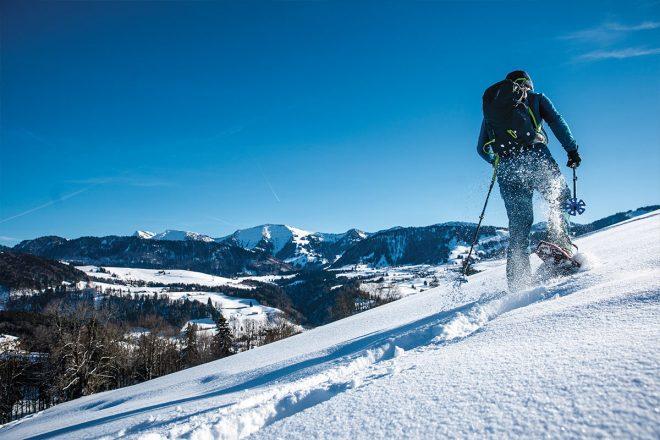 Schneeschuhwandern in Oberstaufen
