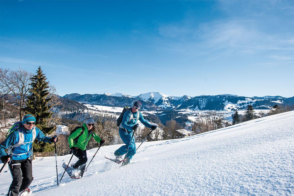 Schneeschuhwanderungen in Oberstaufen