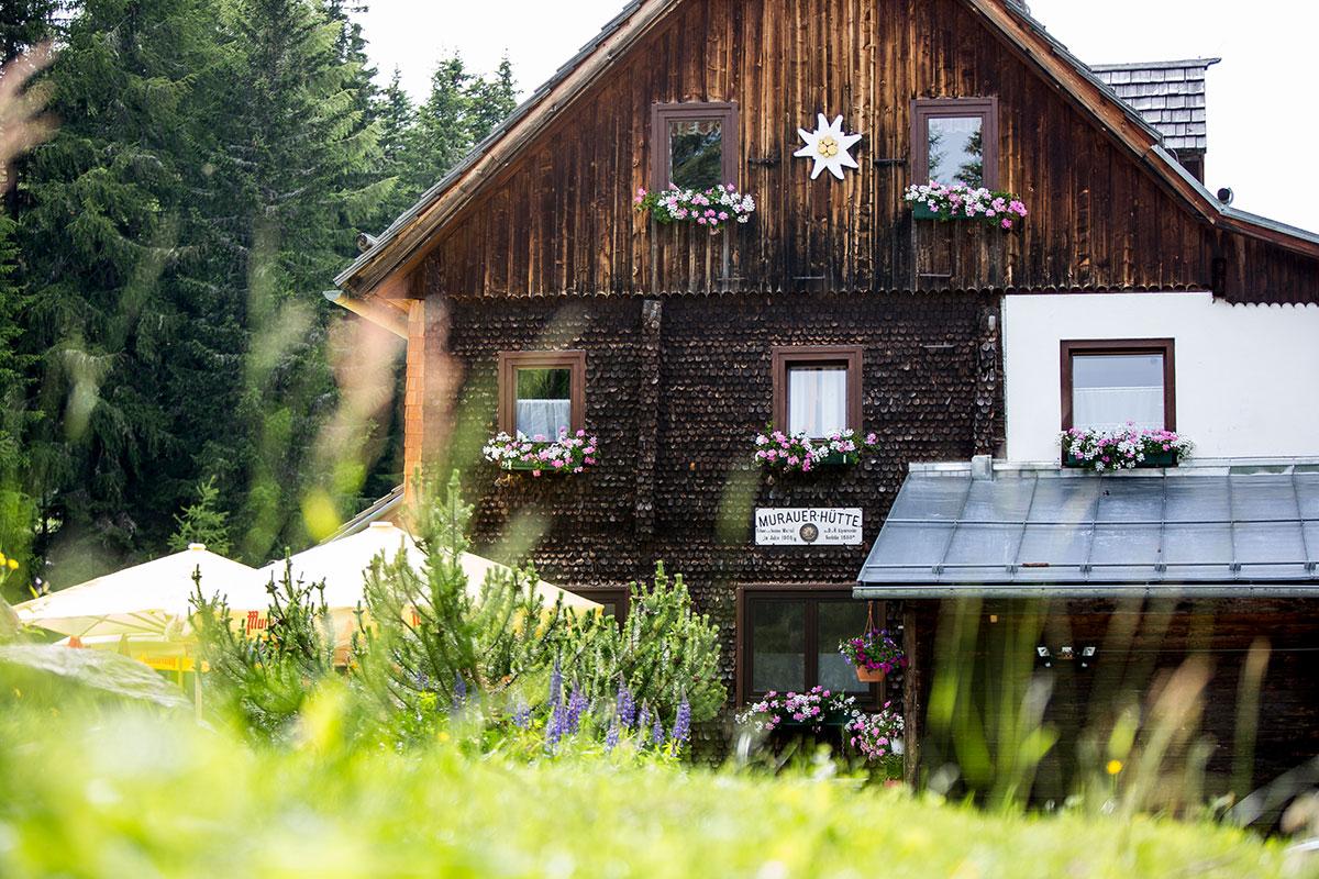 Die urige Murauer Hütte in der Region Murau-Kreischberg auf 1.583 Metern Höhe. Foto: © Steiermark Tourismus/Tom Lamm