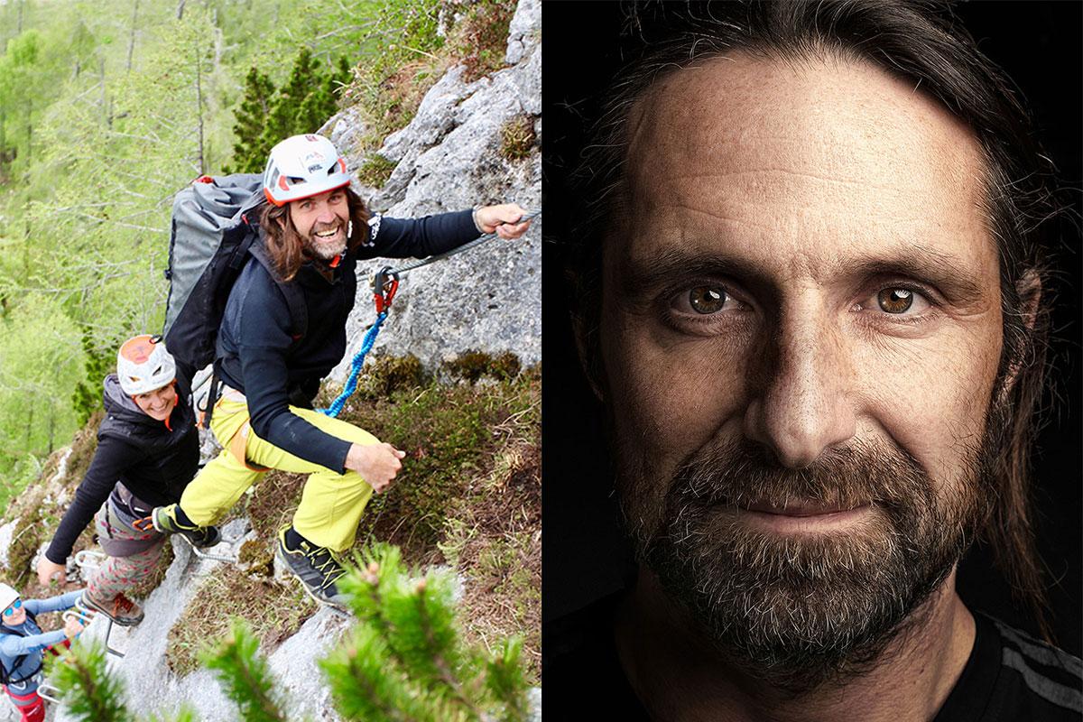 Extremkletterer Thomas Huber (l.) und Alex Huber (r.). © Foto: SC Grünstein Klettersteig eV und Jan Vincent Kleine