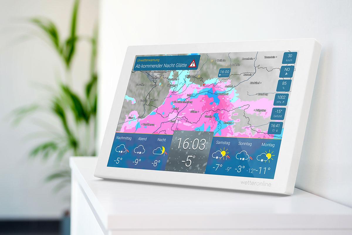 Ob ein großer Temperaturunterschied zwischen Tag und Nacht bevorsteht, zeigt ein Blick auf die neue Wetterstation wetteronline home.