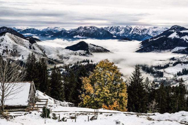 Alpen Tour Wildalpjoch und Käserwand. Wanderung auf dem Sudelfeld