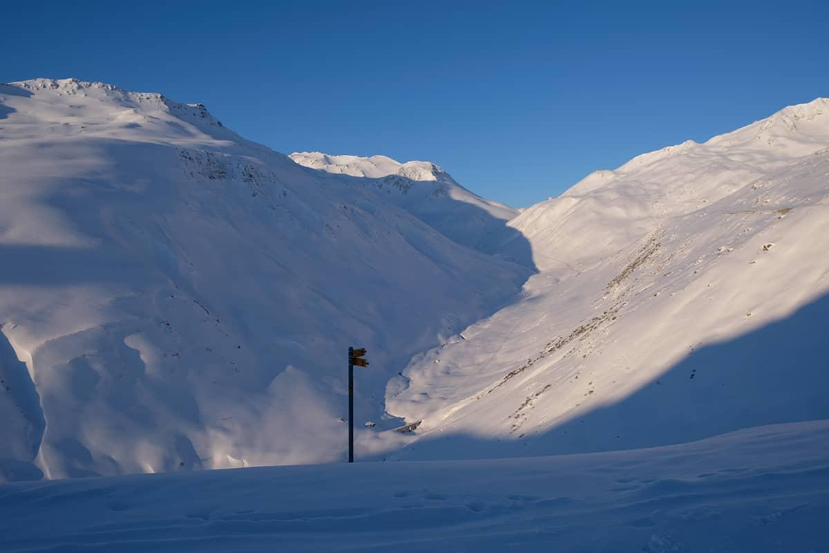Das Schweizer Skitourenparadies am Furkapass