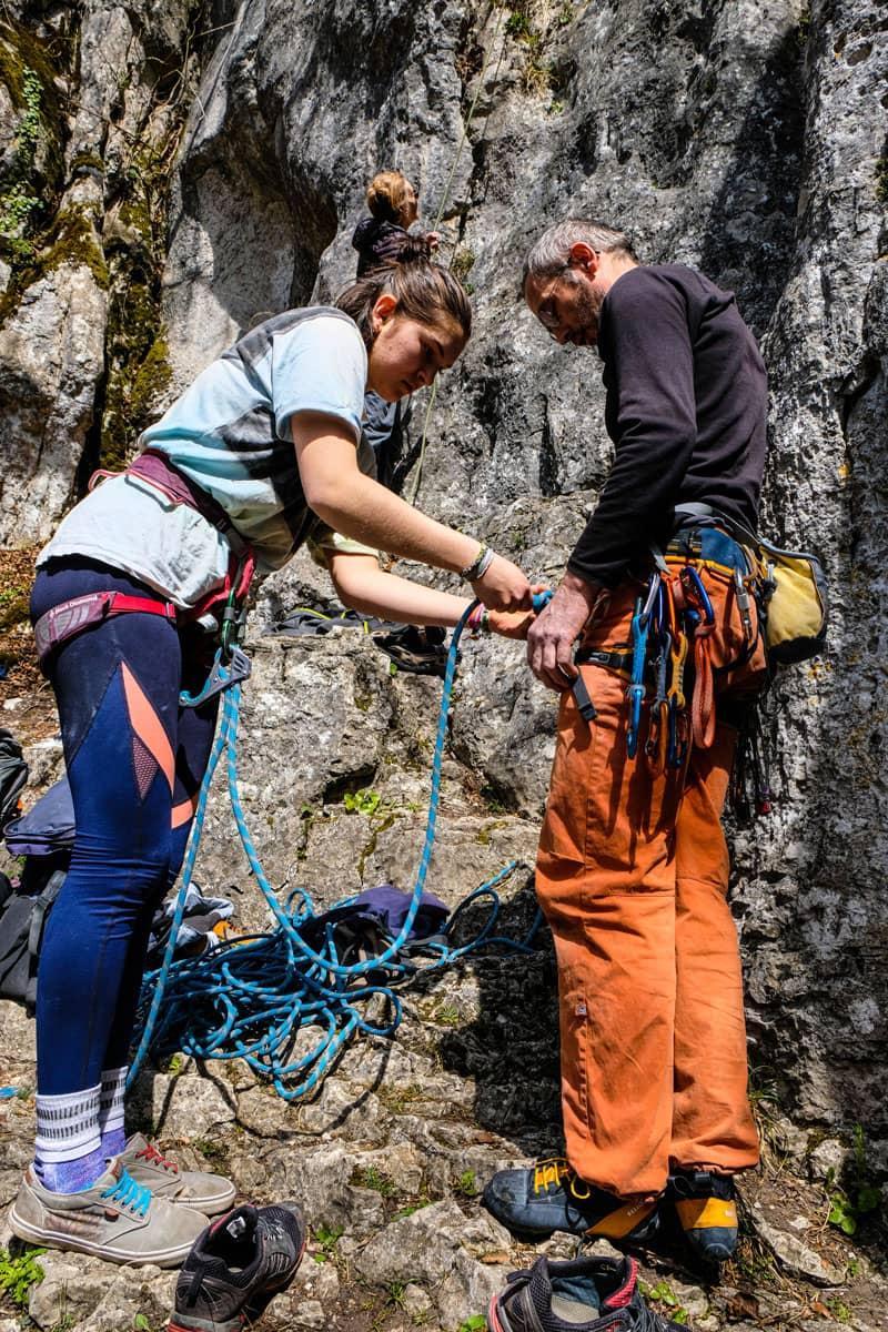 Klettern im malerischen Altmühltal bei Prunn