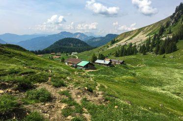 Eine familienfreundliche Wanderung über blühende Almwiesen auf den Gipfel des Jägerkamp, oberhalb des Spitzingsees