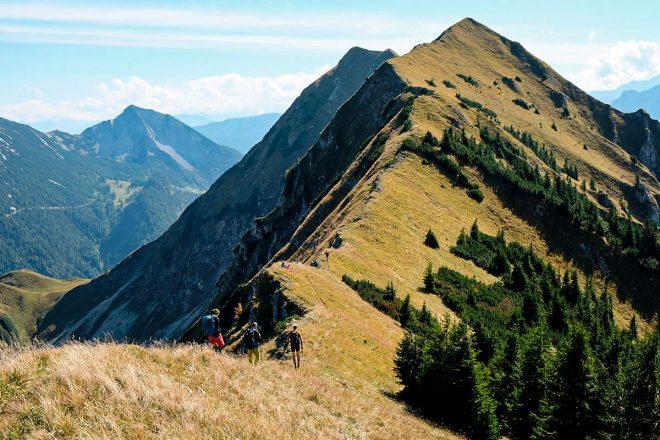 Tiroler Gipfelparade im Karwendelgebirge – Herbstliche Gratüberschreitung von Zunterspitze, Moosenspitze und Schreckenspitze